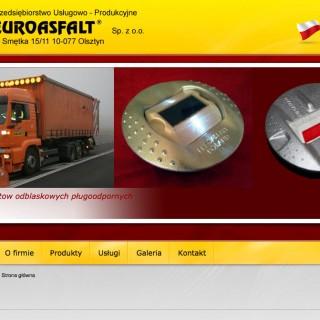 Serwis www dla firmy Euroasfalt