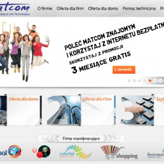Serwis www dla firmy Matcom
